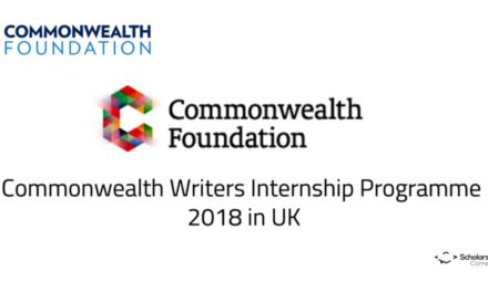 Commonwealth Writers Internship Programme 2018 in UK