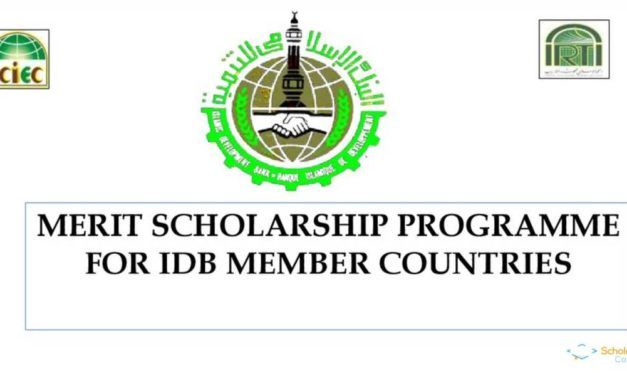 Islamic Development Bank Merit Scholarship Programme 2018-19
