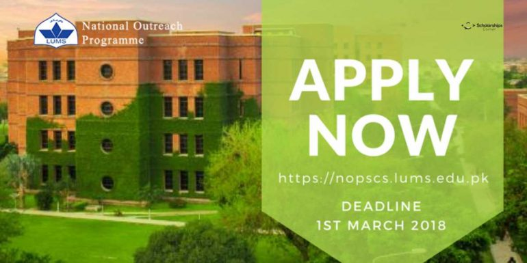 LUMS National Outreach Programme (NOP) for Pakistani Students