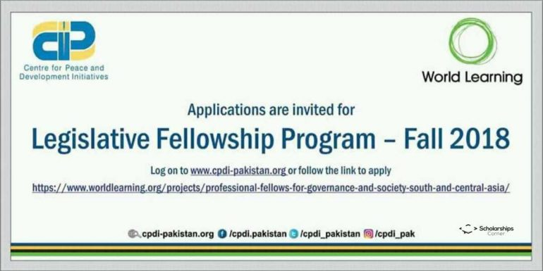 Legislative Fellowship Program 2018 in USA | Governance and Society
