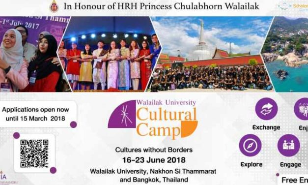 Walailak University Cultural Camp 2018 in Thailand | Cultural Exchange Program