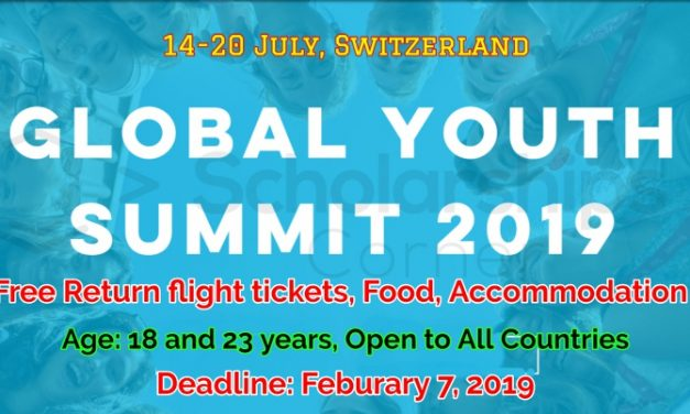 Global Youth Summit 2019 in Zurich, Switzerland – Fully Funded