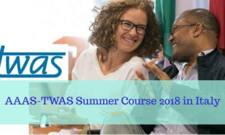 Fully Funded AAAS-TWAS Summer Course 2018 in Italy