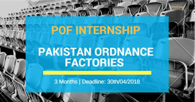 POF Internship 2018 in Pakistan