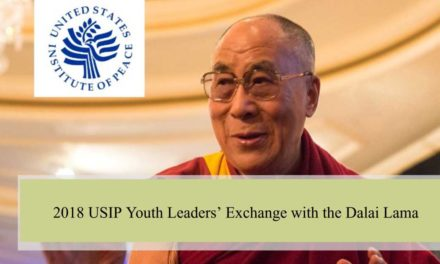 2018 USIP Youth Leaders' Exchange with the Dalai Lama