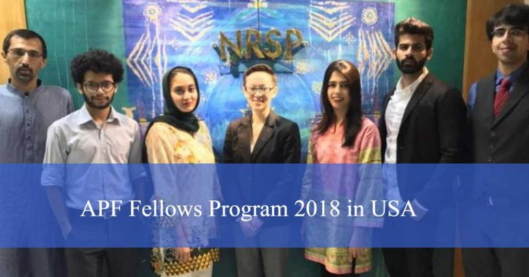 American Foundation Pakistan – APF Fellows Program 2018 in USA