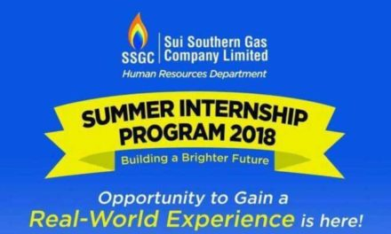 Paid SSGC Summer Internship Program 2018 in Sui Southern Gas Company