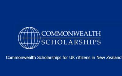 Commonwealth Scholarships for UK citizens in New Zealand 2019