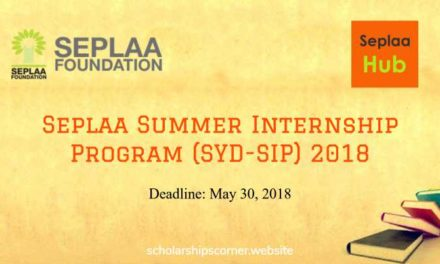 Seplaa Summer Internship Program (SYD-SIP) 2018