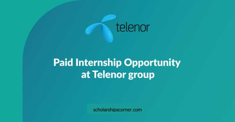 Paid Telenor Summer Internship Program 2018