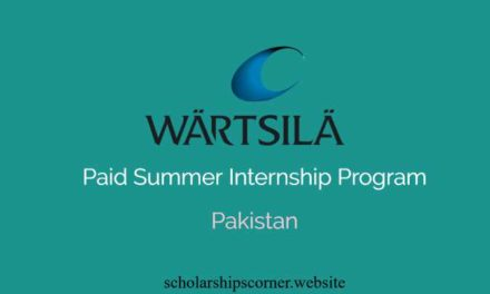Wartsila Paid Summer Internship Program 2018 in Pakistan