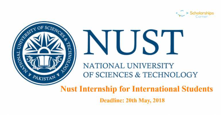 Nust Internship Program for International Students (NIPIS) 2018