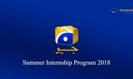 Geo Tv Summer Internship Program 2018