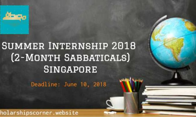 Fully Funded Summer Internship 2018 in Singapore