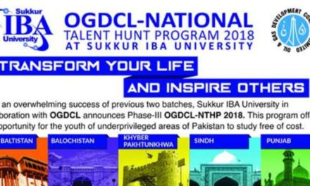 OGDCL National Talent Hunt Program 2018 at Sukkur IBA University