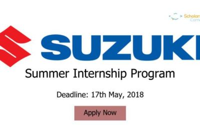 Pak Suzuki Motor Company Limited Summer Internship Program