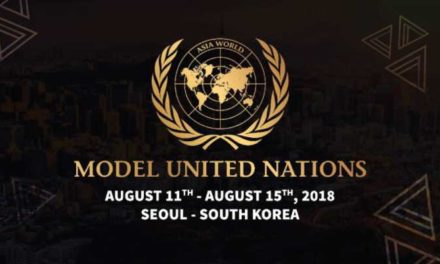 Asia World Model United Nations 2018 in South Korea