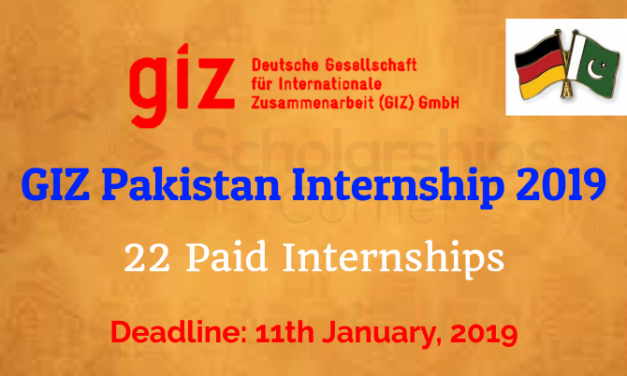 GIZ Pakistan Internship for Pakistani Females 2019 – Paid Internship