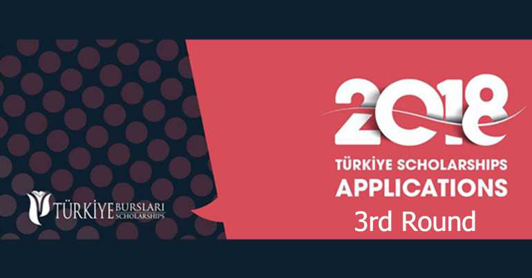 2018 Türkiye Scholarships -3rd round (Fully Funded)