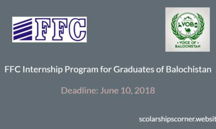 FFC Internship Program for Graduates of Balochistan