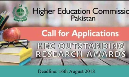 HEC Pakistan Outstanding Research Awards 2018
