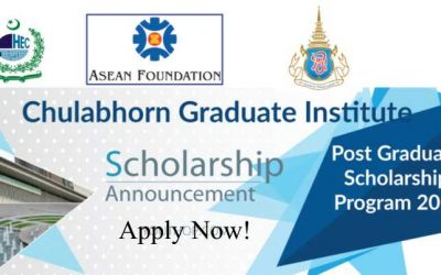 Chulabhorn Graduate Institute Scholarship 2019 in Thailand by Higher Education commission (HEC)