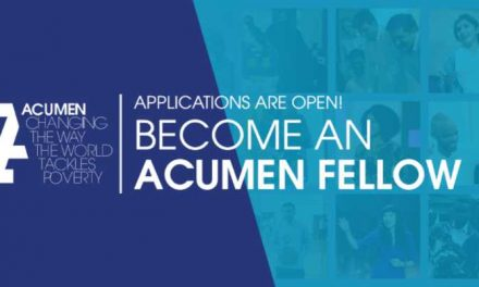 Acumen Fellowship Program 2019 for Emerging Leaders – Fully Funded
