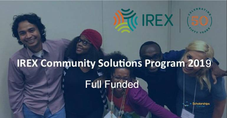 irex community solutions program 2019-2020 in usa