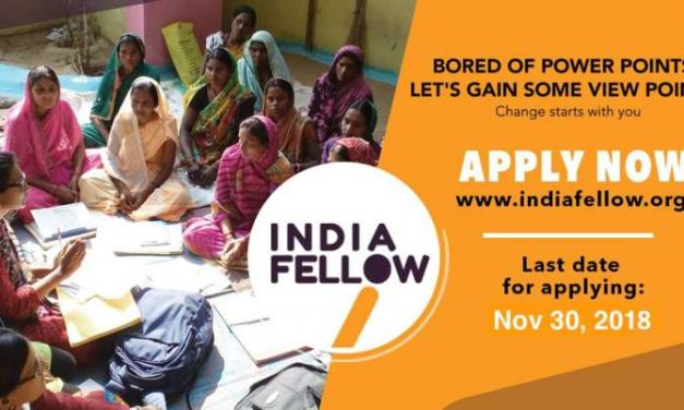 India Fellow Social Leadership Program 2019 for Young Indians