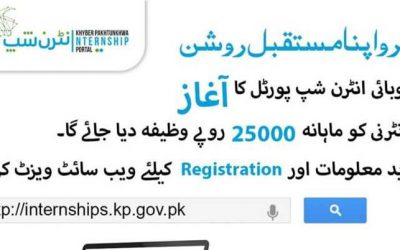 KPK Internship Program 2018 for One Year – Monthly Stipend 25,000 PKR