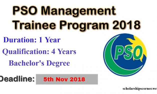 PSO Management Trainee Program 2018 for One Year