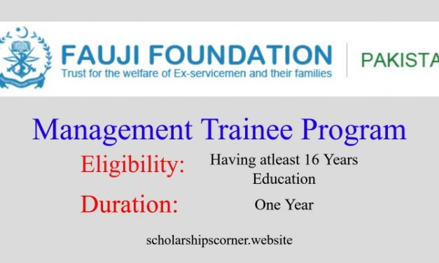 Fauji Foundation Management Trainee Program 2018 for One Year