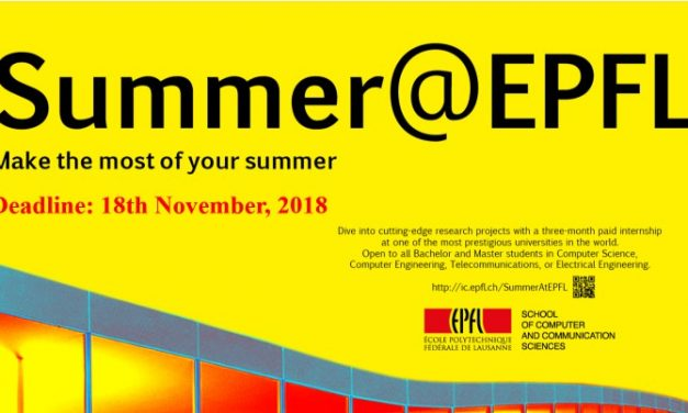 EPFL Paid Summer Internships for Indian Students in Switzerland