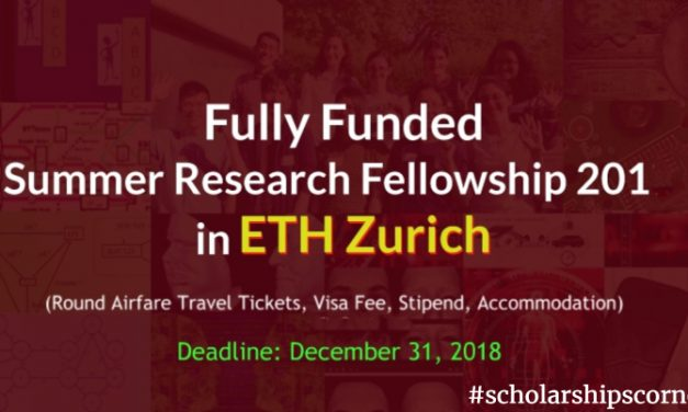 ETH Student Research Summer Fellowship 2019 in Switzerland – Fully Funded