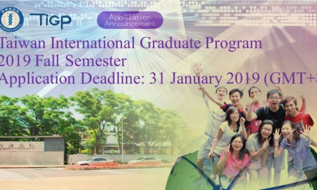 Taiwan International Graduate Program 2019 – Taiwan Scholarships 2019