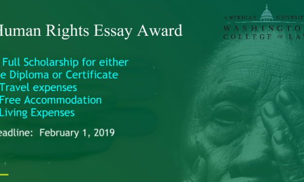 Human Rights Essay Award 2019 – Fully Funded Trip to Washington DC