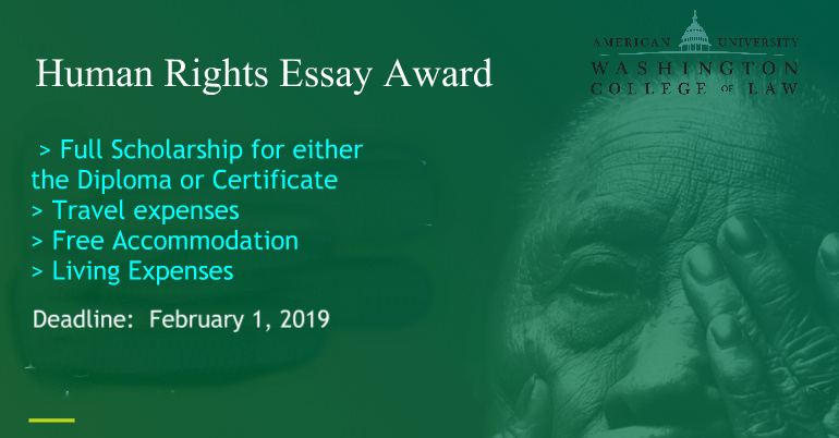 Human Rights Essay Award 2019 Fully Funded Trip To