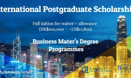 International Postgraduate Scholarship (IPS) at Hong Kong for Master's Students