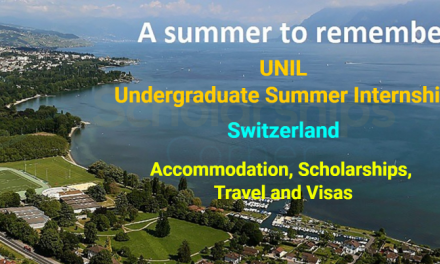 UNIL Undergraduate Summer Internship 2019 in Switzerland – Fully Funded