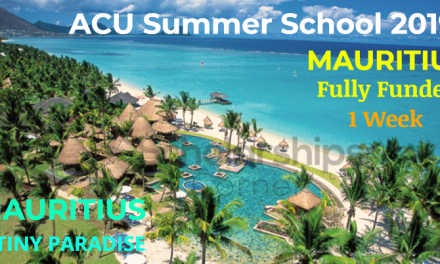 ACU Summer School 2019 at University of Mauritius – Fully Funded