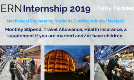 CERN Internship 2019 in Geneva, Switzerland- Fully Funded