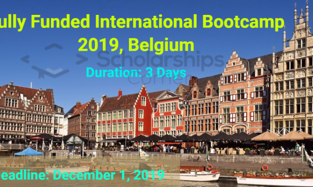 Fully Funded International Bootcamp 2019 in Belgium for 3 Days