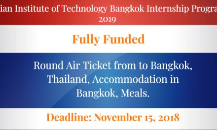 Asian Institute of Technology Bangkok Internship Program 2019 for Pakistan