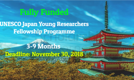 UNESCO Japan Young Researchers Fellowship Programme 2019 – Fully Funded