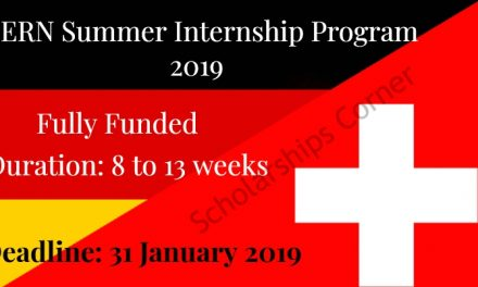 Fully Funded CERN Summer Internship Program 2019 in Switzerland