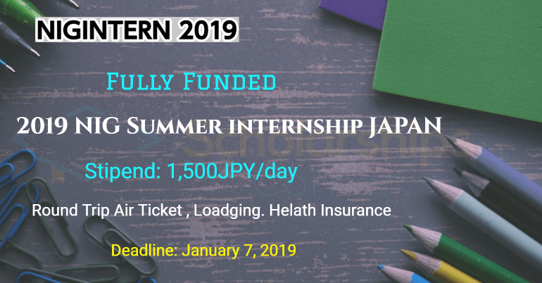NIG Summer Internship