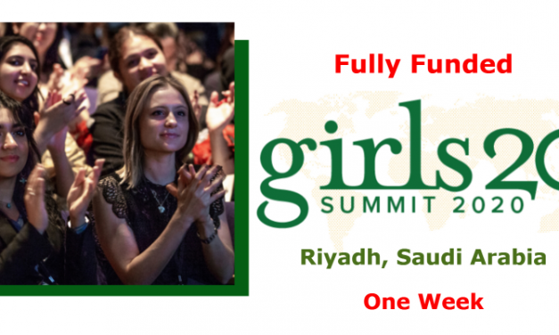 Girls20 Global Summit 2020 in Riyadh, Saudi Arabia [Fully Funded]