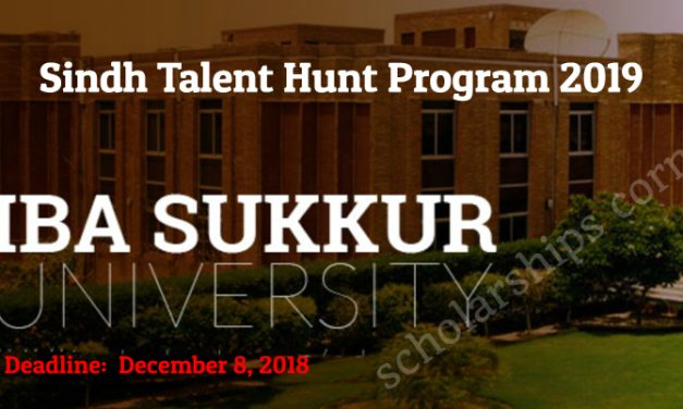 IBA Sukkur Sindh Talent Hunt Program 2019 for Pakistani Students