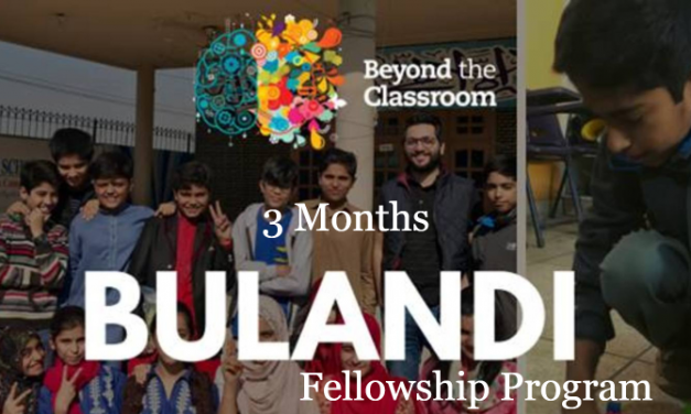 Bulandi Fellowship Program 2019 for Lahore & Karachi – BFP 2019