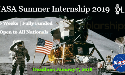 NASA Summer Internship 2019 in United States – Fully Funded